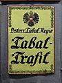Oberzeiring - Tabakmuseum - Trafikschild der Österreichischen Tabakregie.jpg