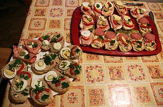 Obložené chlebíčky Open-faced sandwiches