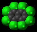 Octachloronaphthalene molecule spacefill.png