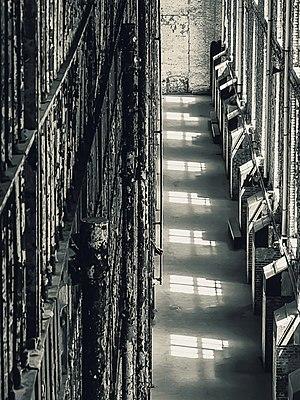 Ohio State Reformatory - Interior, cell-block windows