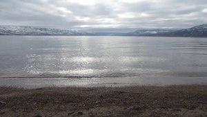 File:Okanagan Lakeshore at Boyce-Gyro Beach on a Winter Afternoon.webm