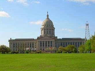 Oklahoma State Capitol - The north façade of the Capitol building.