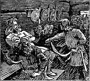 Haakon Sigurdsson - Image: Olav Tryggvasons saga Geirmund Haakon jarl C. Krohg