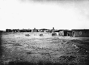 Camp Grant massacre - Camp Grant, photographed by John Karl Hillers in 1870