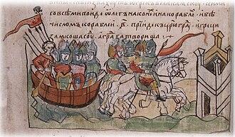 Rus'–Byzantine War (907) - Image: Oleg tsargrad