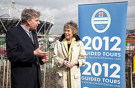 Hoey in 2010, at the launch of the Blue Badge 2012 Guided Tours for the 2012 Summer Olympics