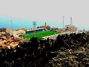 USM Alger - view of Omar Hamadi Stadium from Notre-Dame d'Afrique