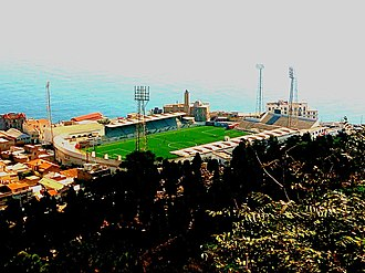 USM Alger - view of Omar Hamadi Stadium from Notre-Dame d'Afrique