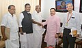 Oommen Chandy calling on the Union Minister for Health & Family Welfare, Shri J.P. Nadda, in New Delhi on August 04, 2015. The Secretary, Ministry of Health and Family Welfare, Shri B.P. Sharma is also seen.jpg