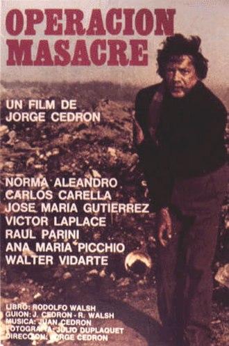 Operación Masacre - 1973 film poster for Operación Masacre