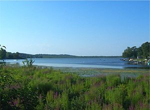 Orange Lake (New York) - View of lake from NY 52 along south shore