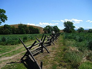 History of the Oregon Trail - The Oregon Trail on the eastern side of the Oregon-Washington border