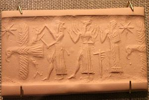 Tell Asmar Hoard - Gray limestone, Tell Asmar, Northern Palace, Akkadian (2350-2150 BC)