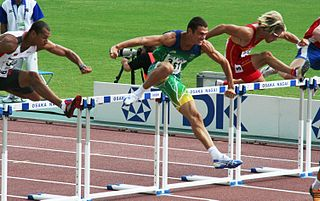 110 metres hurdles track and field hurdling event