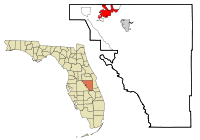 Osceola County Florida Incorporated and Unincorporated areas Kissimmee Highlighted.svg
