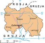 Osetia Południowa leży… Gdzieś tutaj