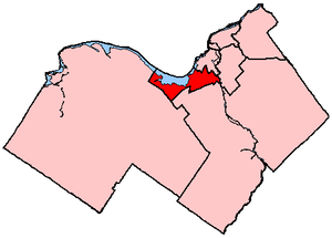 Ottawa West—Nepean - Ottawa West—Nepean in relation to other electoral districts in Ottawa (2003 boundaries)