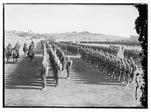 Ottoman forces massed near Jerusalem during Wo...