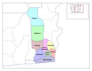 Ouémé Department - Communes of Ouémé