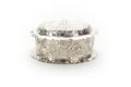 Oval ask med lock, av silver - Skoklosters slott - 91978.tif