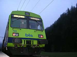 Bern S-Bahn - A BLS S-Bahn train at Trubschachen
