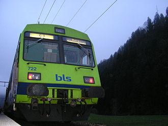 Bern S-Bahn - A BLS S-Bahn train at Trubschachen