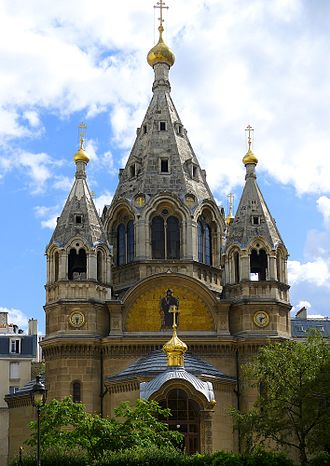 Alexander Nevsky Cathedral, Paris - Image: P1050437 Paris VIII cathédrale orthodoxe St Alexandre Nevski rwk