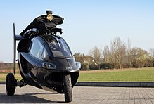 Pal-V One' is a three-wheeled motorcyle that transforms into a