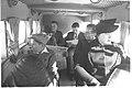 "PASSENGERS SEATED IN ONE OF THE PALESTINE AIRWAYS ""SCION"" PLANES DURING FLIGHT. נוסעים במהלך טיסה של חברת ""נתיבי אויר ארץ ישראל"".D2-055.jpg"