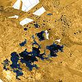 PIA17655 crop Titan north polar seas and lakes.jpg