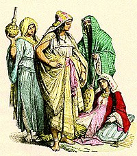 Dress of Arab women, fourth to sixth century.