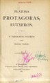 PL Platon - Protagoras; Eutyfron.pdf