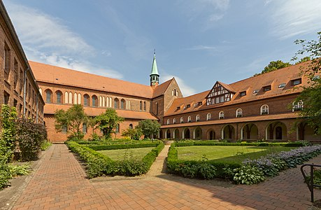 Kloster Lehnin courtyard, Brandenburg, Germany