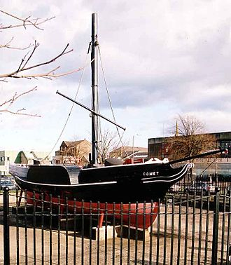 Port Glasgow - PS ''Comet'', Europe's first commercially successful steamboat, was built in Port Glasgow, and a replica of her made by shipyard apprentices now stands in the town centre.