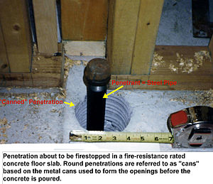 Packing (firestopping) - Image: Pack seal 1