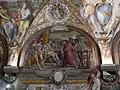 Palazzo capponi-vettori, salone poccetti, 02 lunetta con piero di gino capponi da carlo VIII di francia.JPG