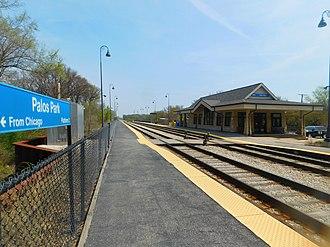 Palos Park station - Image: Palos Park Station