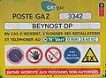 Panneau du poste gaz Beynost DP.jpg