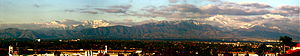 Chino Creek - Image: Panorama view of Mount San Antonio as seen from Chino Hills