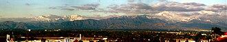 Chino Creek - Image: Panorama view of Mount San Antonio as seen from Chino Hills