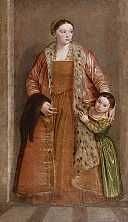 Paolo Veronese - Portrait of Countess Livia da Porto Thiene and her Daughter Deidamia - Walters 37541.jpg