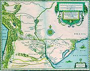 Paraguay - O Prov de Rio de la Plata - cum regionibus adiacentibus Tvcvman et Sta. Cruz de la Sierra - ca 1600