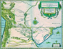 La regione del Río de la Plata agli inizi del secolo XVII.
