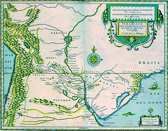 Montevideo - 17th century map of the Río de la Plata basin