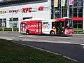 Pardubice, Palackého třída u Masarykova náměstí, autobus 211 na lince 9.jpg