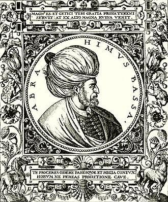Pargalı Ibrahim Pasha - Engraving of Ibrahim Pasha