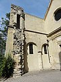 Paris (75), église Saint-Julien-le-Pauvre, nef, 1ère et 2e travée, élévation nord (vestiges).JPG