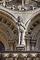Paris - Cathédrale Notre-Dame - Façade ouest - Statue - PA00086250 - 007.jpg