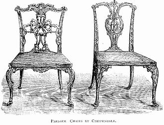 Conservation and restoration of wooden furniture - Parlour Chairs by Chippendale