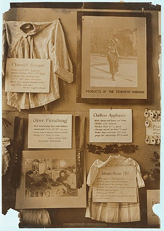 National Consumers League - Part of exhibit, N.Y.C.L. and Consumers League regarding the working conditions of the people who made clothing